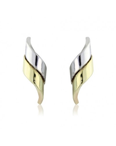 9ct Gold 2 Colour Studs SE467